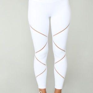 White fashion nova leggings